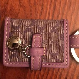Coach Signature Key Fob